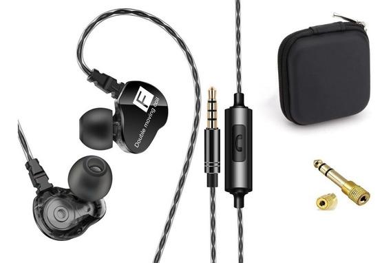 Fone In Ear Qkz Ck9 Retorno De Palco Dual Driver + 2 Brindes