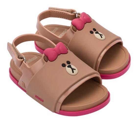 Mini Melissa Beach Slide Sandal+line Friends Original 17-28