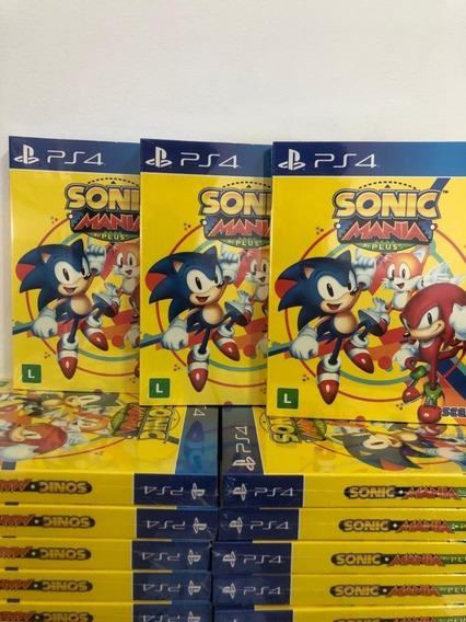 Sonic Mania Plus Ps4 Mídia Física Lacrado Promoção + Nfe