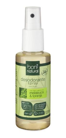 Desodorante Spray Boni Natural Melaleuca E Aloe Vera 120ml