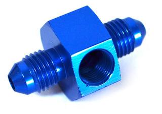 Unión Conexión Recta An4 An4 Con 1/8npt Azul Ftx Fueltech