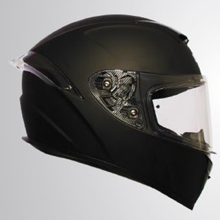 Casco Integral A1-solid Rocket Force Negro Mate Rider One