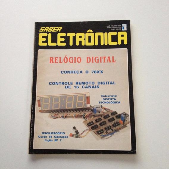 Revista Saber Eletrônica Relógio Digital Nº 226 A750