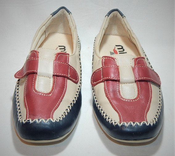 Sapato Feminino Mironneli Em Couro Tam 37 Semi Novo