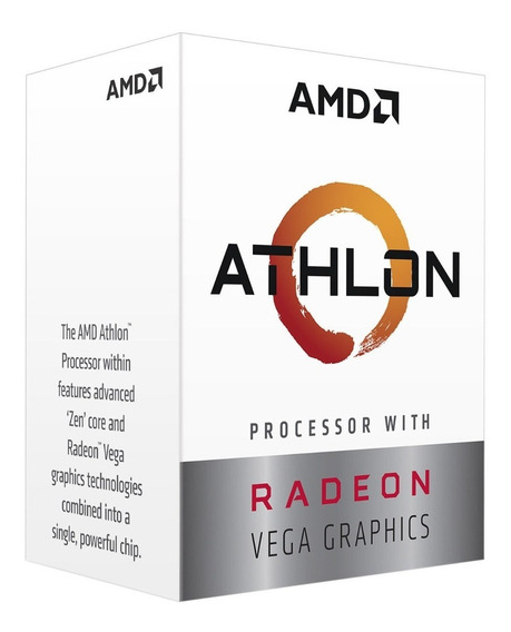 Processador Amd Athlon 3000g 3.5ghz Am4 Yd3000c6fhbox