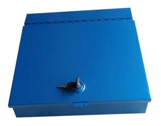 Caja Para Dinero Grande De Metal Con Dos Llaves, E40
