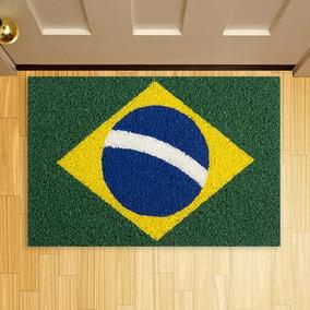 Tapete Capacho Criativo Vulcanizado Bandeira Do Brasil