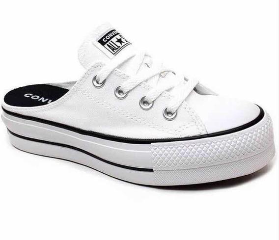 Zapatillas Zueco Converse Chuck Taylor Mule Sil Color Blanca