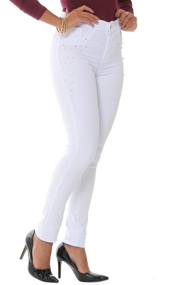 Calça Jeans Feminina Branca - Sawary