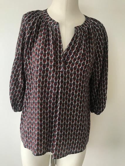 Camisa Mujer Joie 100% Seda (marca Usa) - Talle Xs