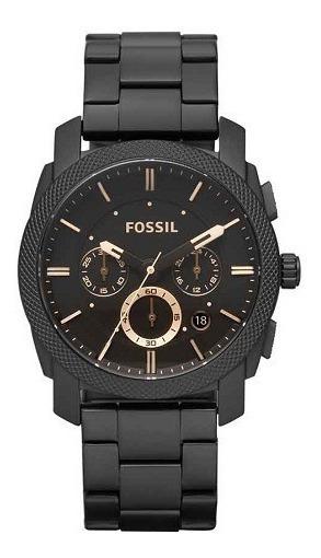 Relógio Fossil Masculino Preto Marrom Original Garantia