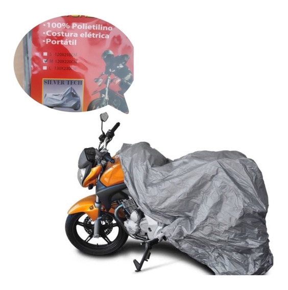 Capa De Chuva Moto Protetora Universal Impermeável Sol M G