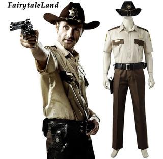 Fantasia Cosplay The Walking Dead Rick Grimes Hqs Serie