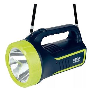 Lanterna Holofote Power Led 265 Lumens Mor Azul Com Verde
