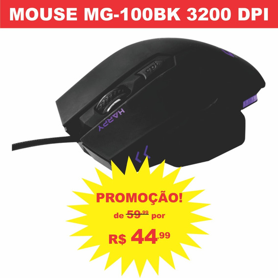 Mouse Gamer Laser Usb Óptico Pc 3200 Dpi Iluminado Barato