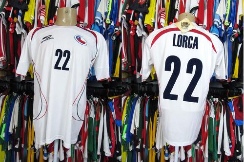 Chile 2006 Camisa Reserva Tamanho G # 22 Lorca.