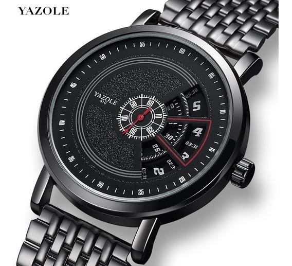 Relógio Masculino Yazole Luxo Quartzo Supreme Design