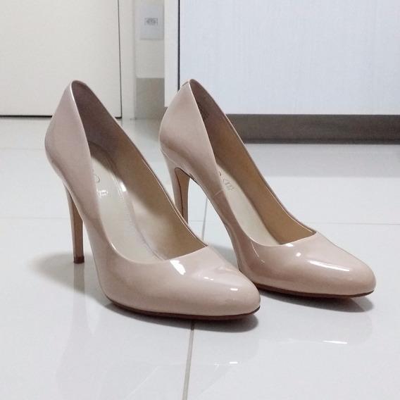 Sapato Scarpin Aldo - Bege - Couro Legítimo - Verniz