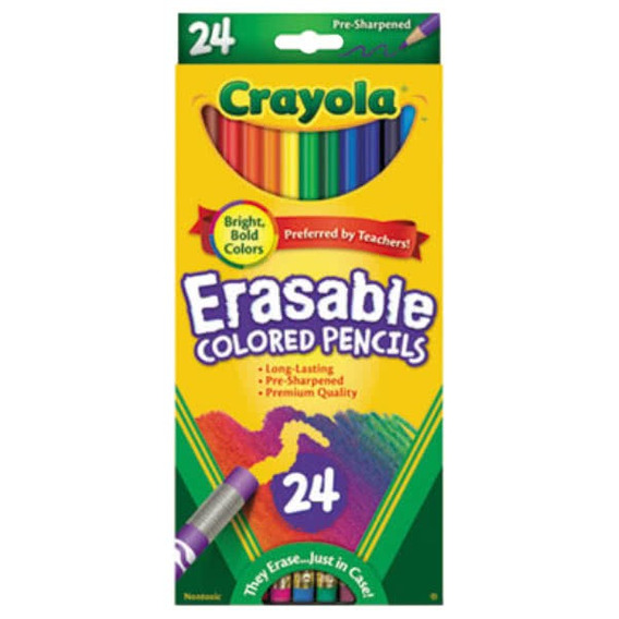 Lapices Crayola Borrable 12 Blister De 24 Unidades C/u