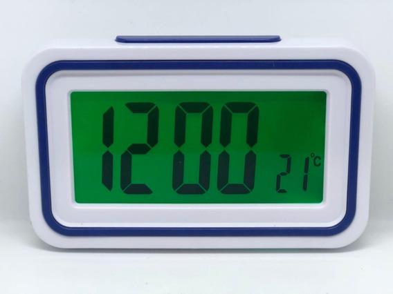 Relógio Digital Led Despertador Fala Hora Ideal Para Idosos