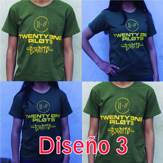 Playera Estampada En Vinil Textil Twenty One Pilots