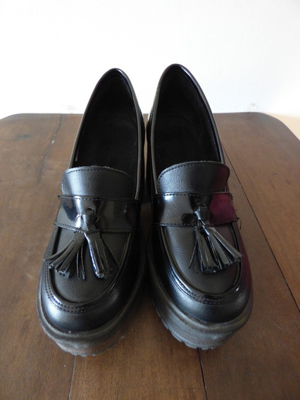 Zapatos Tipo Mocasines Con Plataforma