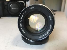 Lente Canon Fd 55mm F/1.2 + Ada Sony + Brinde Porta Sd