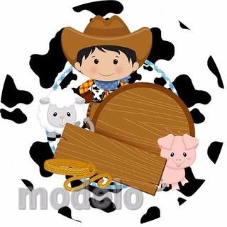 Kit Fest Infantil Personalizados 195 Adesiv Fazendinha 78