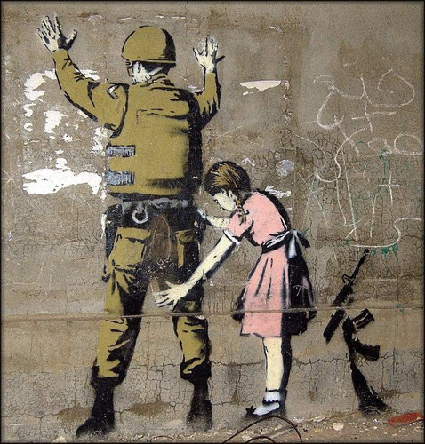 Poster Grafite Banksy Foto 50x55cm Para Decorar Sala Quarto