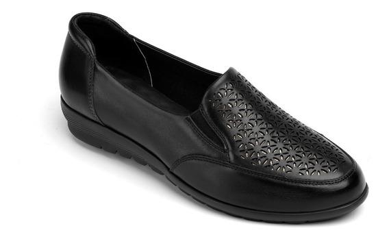 Calzado Zapato Dama Flexi Negro 28402 Confort Casual Piel
