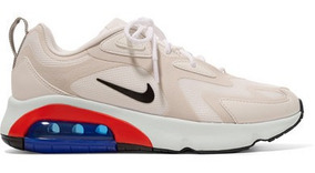 Nike Air Max 200 Leather-trimmed Felt And Mesh Sneakers
