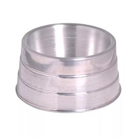 Comedouro De Alumínio Polido Pesado Cocker
