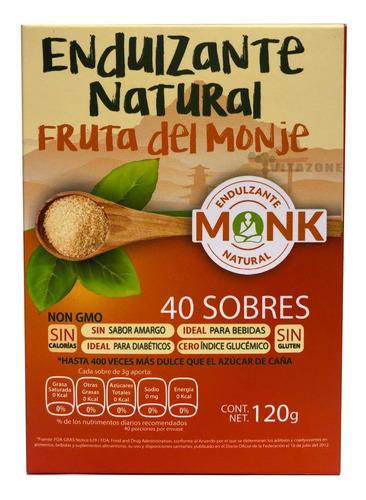 Imagen 1 de 2 de Fruta Del Monje Sustituto De Azúcar 40 Sobres