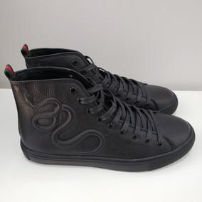 Tênis Couro Gucci Ace High-top Sneaker N.39 - Raro