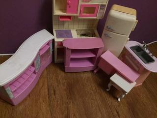 Barbie Muebles Cocina/living Lote X6