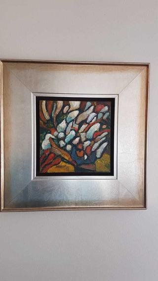Obra De Arte S/t Del Maestro Félix Arauz 2003 (20x20cm)