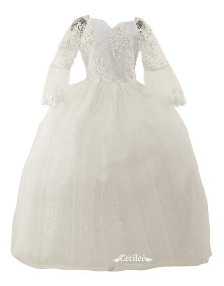 Hermoso Vestido Elegante De Ceremonia Niña Alondra