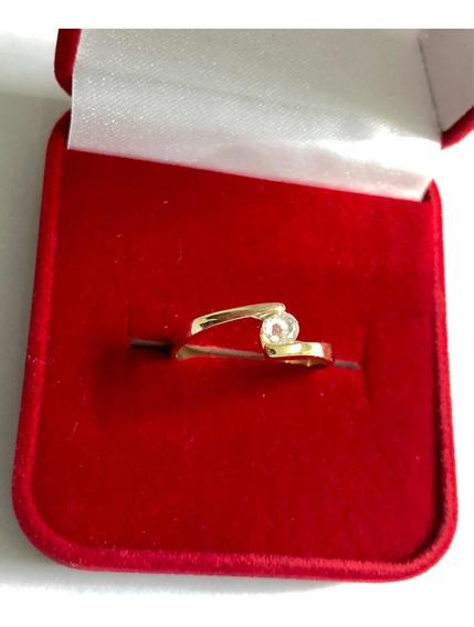 Anel Solitário Com Diamante De 25 Pontos Em Ouro 18k