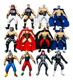 Figuras De Lucha Libre Mexicana Luchadores De Arena Aaa Cmll