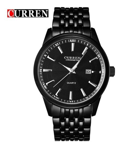 Reloj Moderno Hombre Análogo Curren Con Fechador 8052