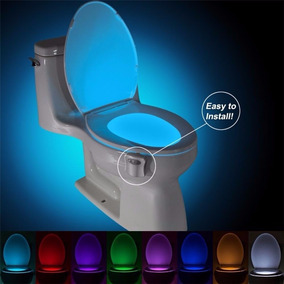Luz Abajur Vaso Sanitario Lightbowl Com Sensor E Led 8 Cores