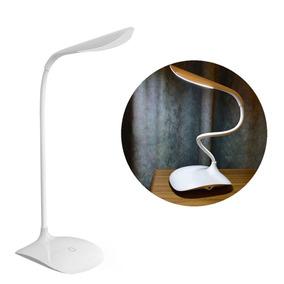Luminária De Mesa Recarregável Touch Led Soft 3 Níveis Luz
