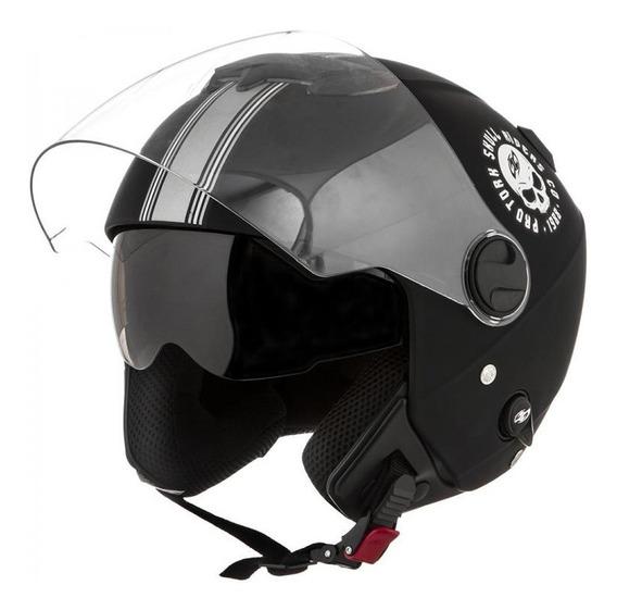 Capacete New Atomic Skull Riders - Pro Tork+viseira Tam. 58*