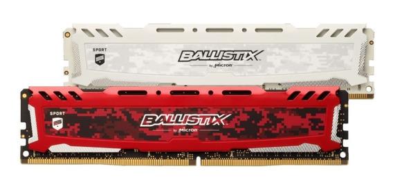 Memoria Ram Ballistix Sport Lt 8gb Ddr4-3200 Red / White 12c