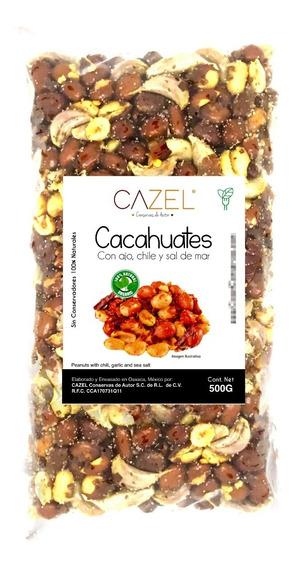 Cacahuate Con Ajo Y Chile De Árbol Botana Oaxaqueña 500g