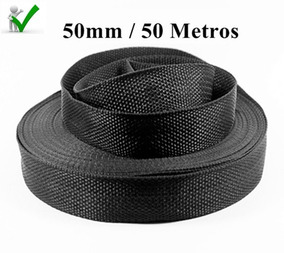 Rolo De Alça Fita 50mm 50 Metros 5 Centimetros Preta