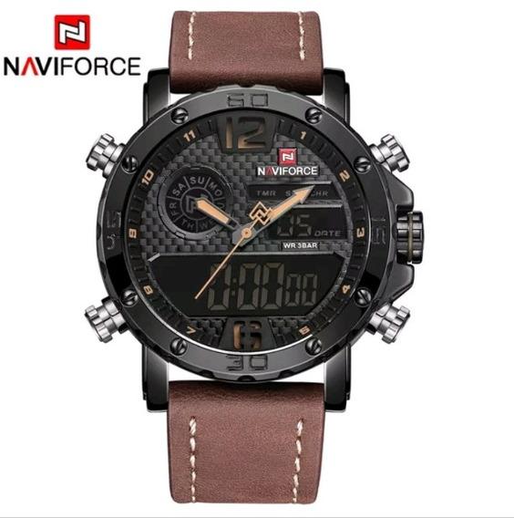 Relógio Masculino Naviforce Nf9134 Esportivo Pulseira Couro