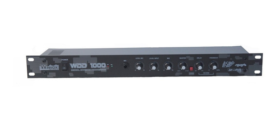 Processador Efeito Voz Wdd 1000 Echo Delay Reverb Winvox