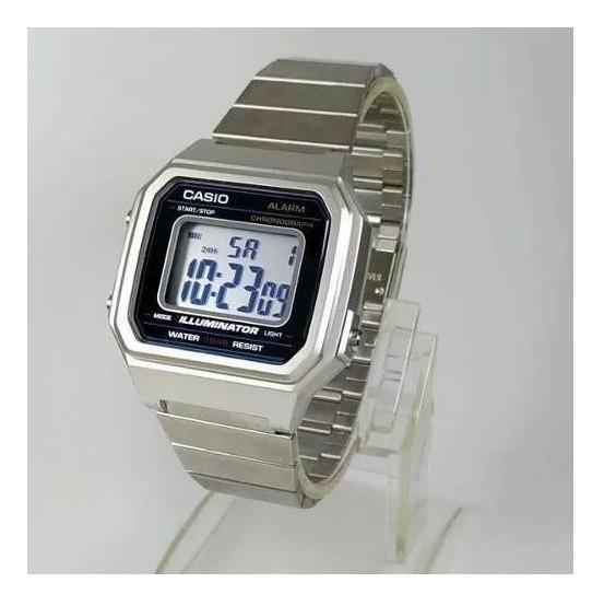 B650 Relógio Cassio Digital Aço Wr50 42mm B650wd-1a Grande