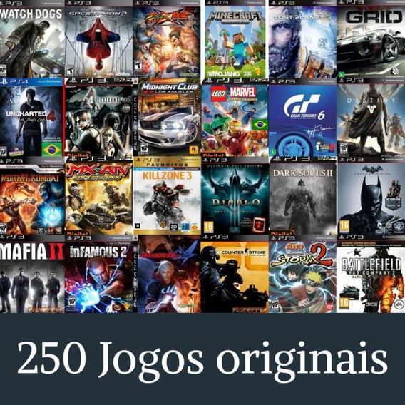 Jogos De Ps3- Pacote Com 250 Jogos Originais- Leia Descrição